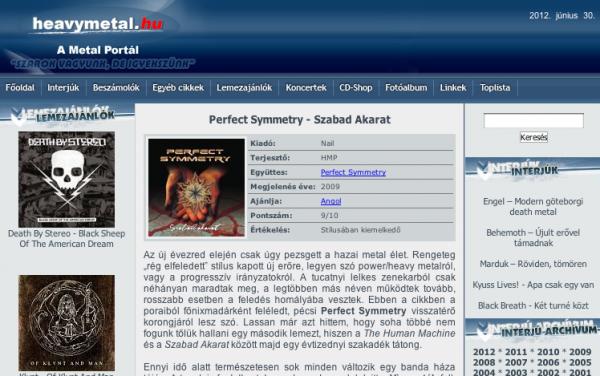 PS Szabad Akarat lemezkritika a haevymetal.hu oldalon